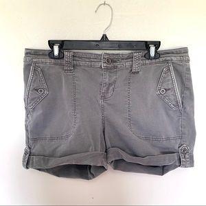 Torrid Stretch Denim Bermuda Gray Shorts Size 14